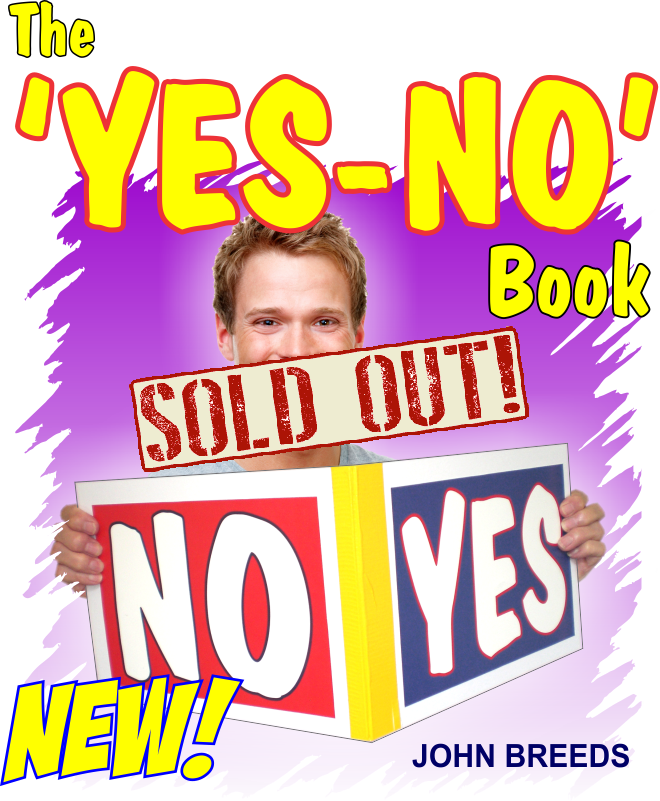 Flyer for Yes No Book by John Breeds